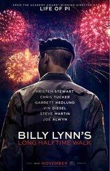 Постер к фильму «Долгая прогулка Билли Линна в перерыве футбольного матча»