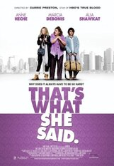 Постер к фильму «То, что она сказала»