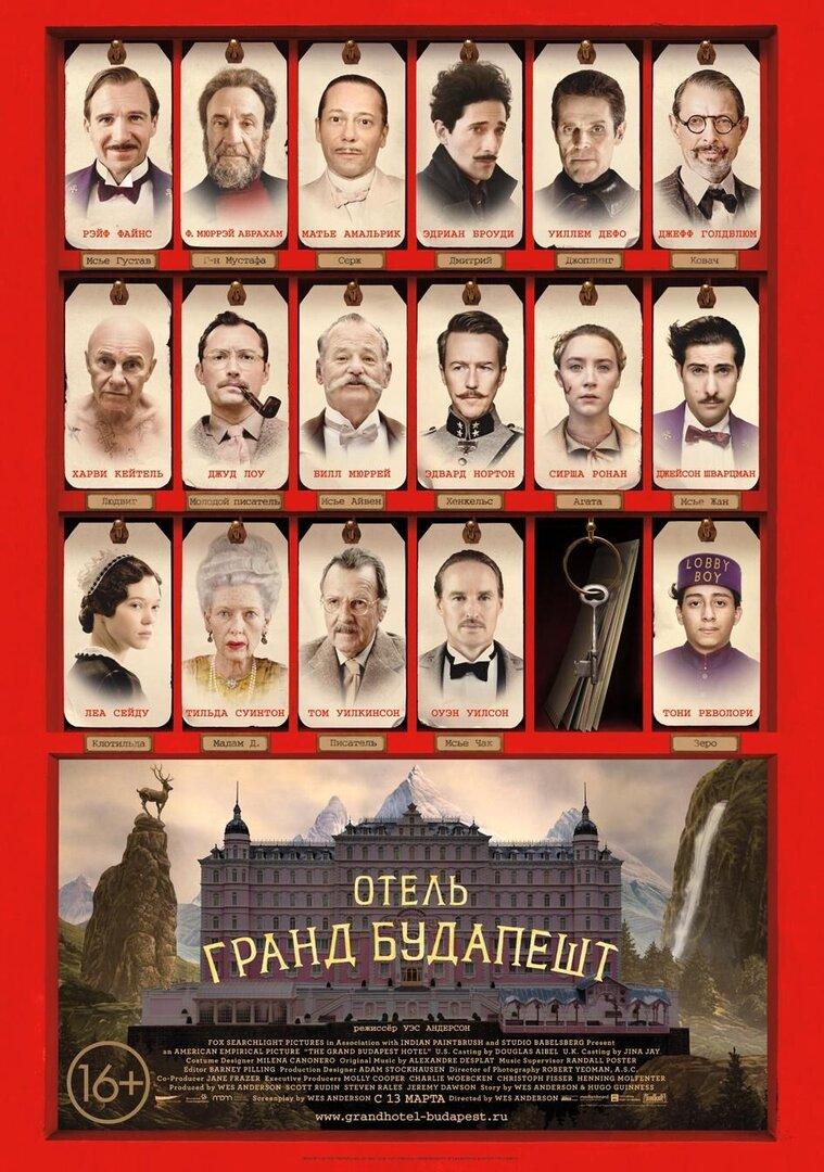 Гранд отель будапешт плакат