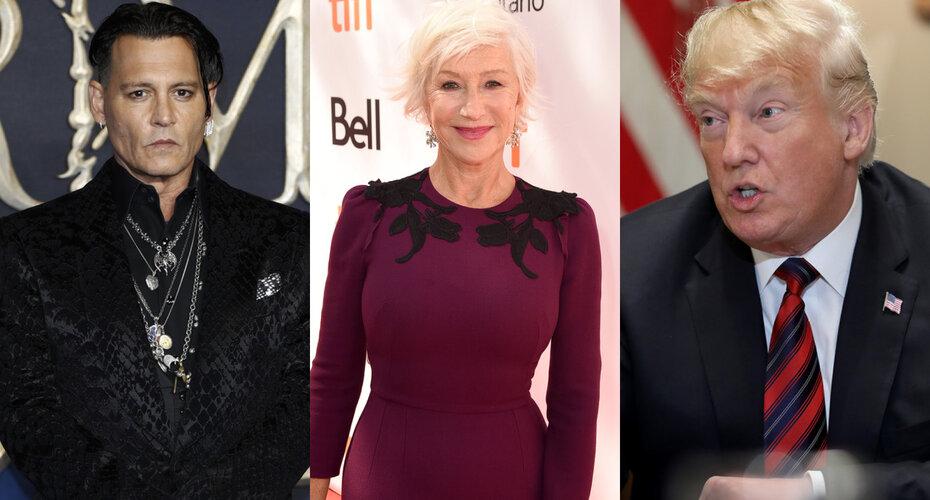 Что общего у Джонни Деппа, Хелен Миррен и Дональда Трампа?