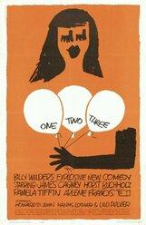 Постер к фильму «Один, два, три»