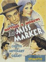 Постер к фильму «Маленькая мисс Маркер»