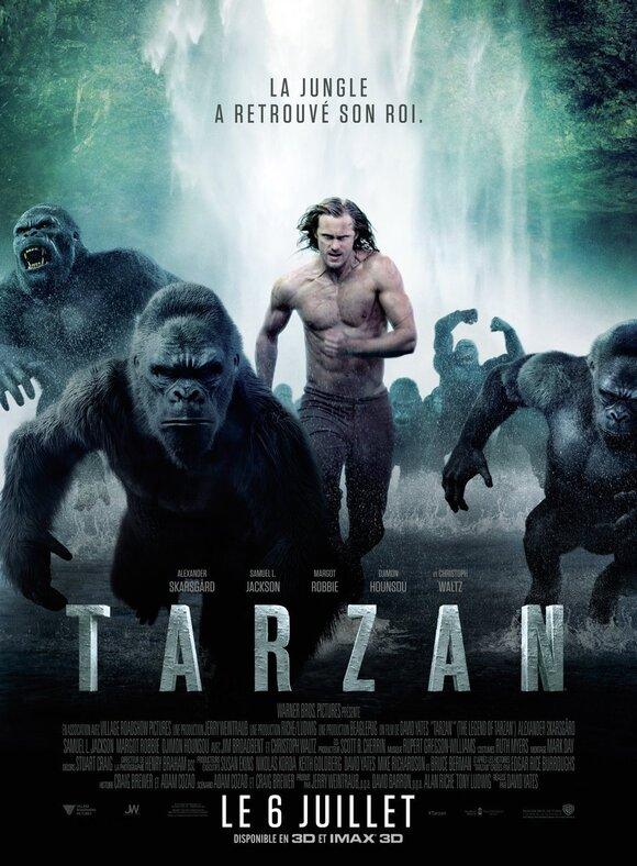 Александр Скарсгард демонстрирует обнаженный торс на новых постерах «Тарзан: Легенда»