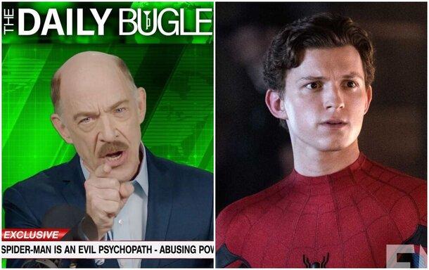 «Человек-паук – злобный психопат»: Sony запустила вирусный ролик с Джеем Джоной Джеймсоном и сайт Daily Bugle