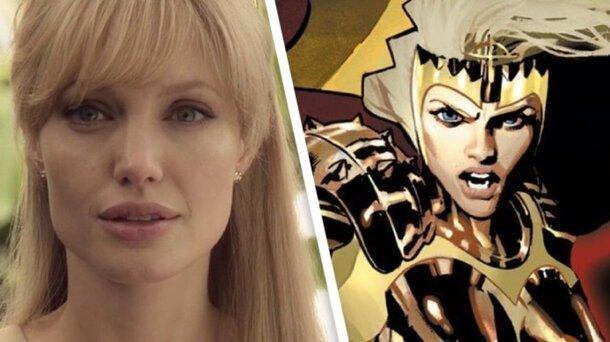 Первые фото: Джоли-блондинка на съемках «Вечных» Marvel