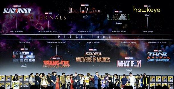 Ждем новый рекорд бокс-офиса: в 2021 году Marvel впервые выпустит сразу 4 фильма