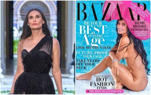 Смело: 56-летняя Деми Мур полностью обнажилась для обложки Harper's Bazaar