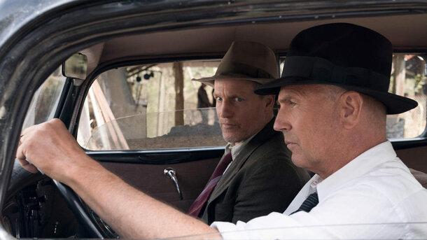 Харрельсон иКостнер охотятся заБонни иКлайдом втрейлере «Разбойников сбольшой дороги»