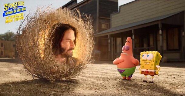 Киану Ривз засветился в трейлере мультфильма «Губка Боб 3»