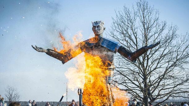 Под Липецком наМасленицу сожгли чучело Короля ночи из«Игры престолов»