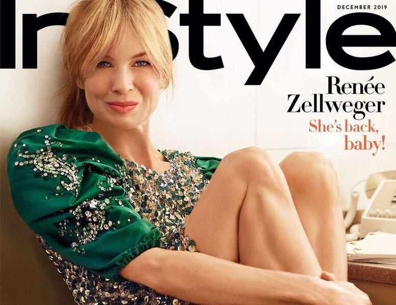 Рене Зеллвегер украсила обложку InStyle и рассказала об «унизительных» публикациях в таблоидах