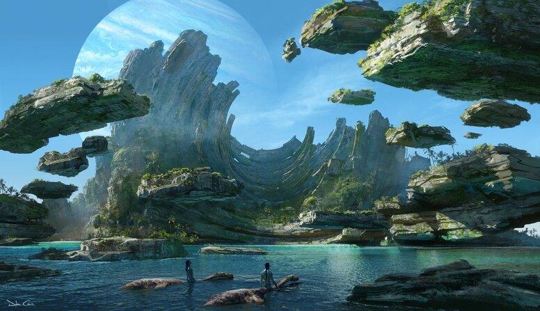 Фантастический мир Пандоры: Джеймс Кэмерон поделился концепт-артами «Аватара 2»
