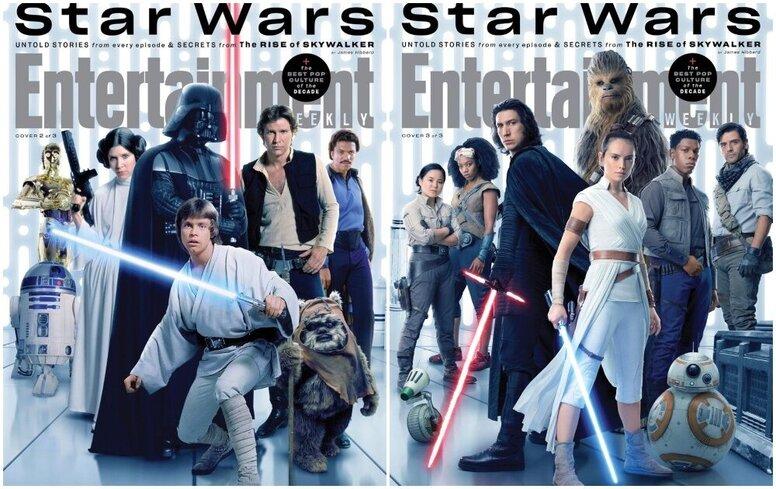 Конец эпохи Скайуокеров: сразу три поколения «Звёздных войн» на обложках Entertainment Weekly