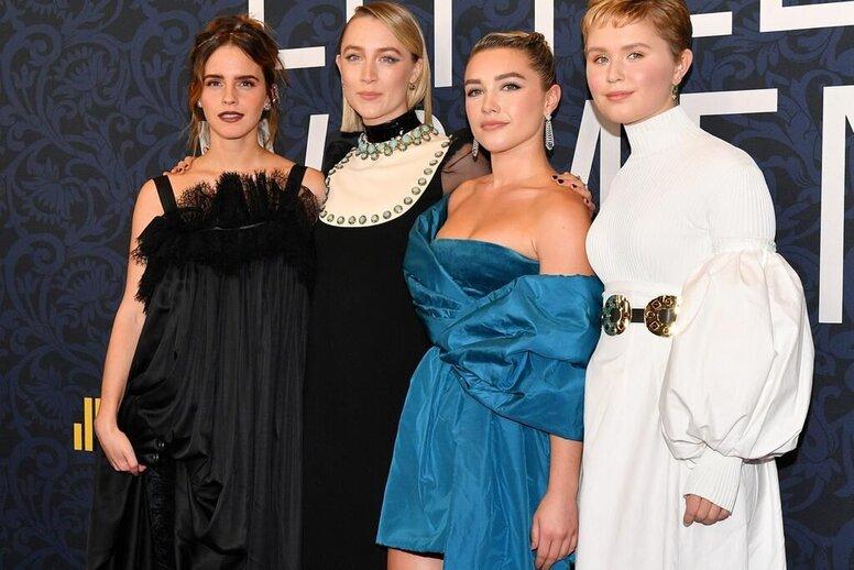 Эмма Уотсон, Тимоти Шаламе и Сирша Ронан представили «Маленьких женщин» на красной дорожке в Нью-Йорке