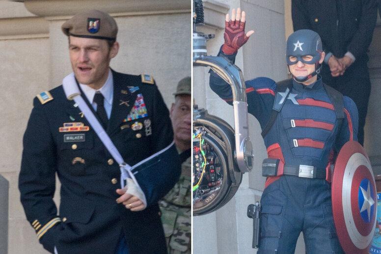На фото со съемок «Сокола и Зимнего солдата» обнаружили «неправильного» Капитана Америку