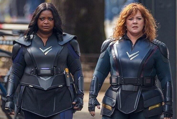 Мелисса МакКарти и Октавия Спенсер примеряют супергеройские костюмы на съемках комедии «Громовая сила»