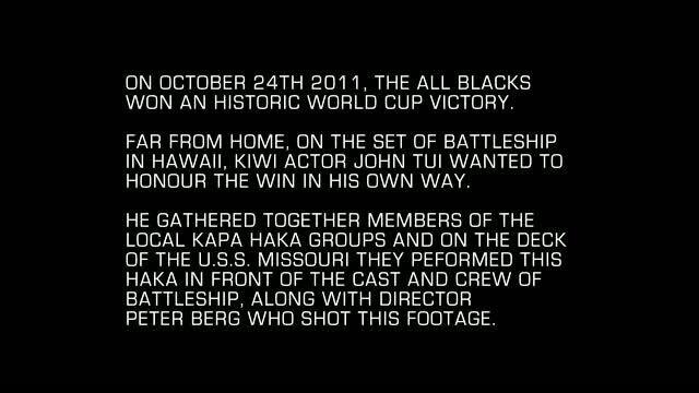 Морской бой - промо-ролик 1: Haka