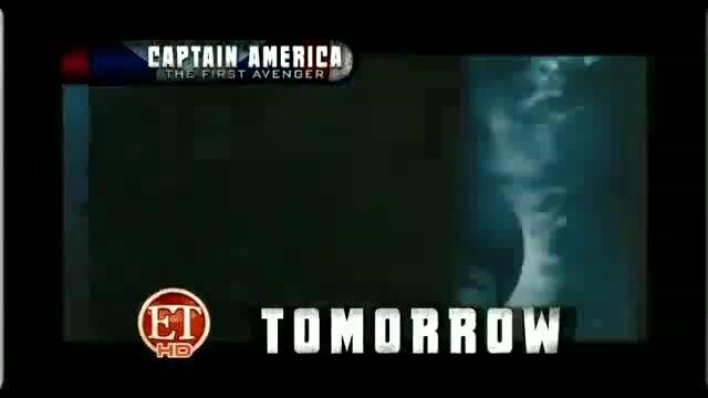 Первый мститель - репортаж канала ET о съемках